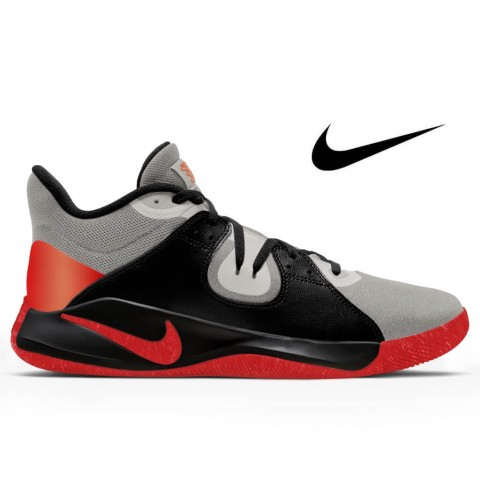 Tênis Nike Fly By Mid Red and Silver Tamanho 47