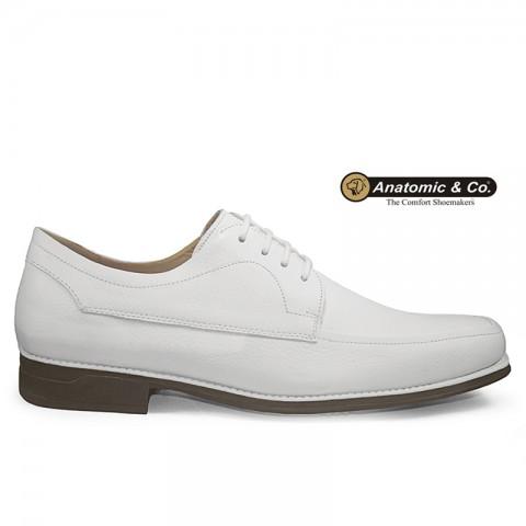 Sapato Anatomic Gel All White 7707 Floater Branco Tamanhos 44 a 45