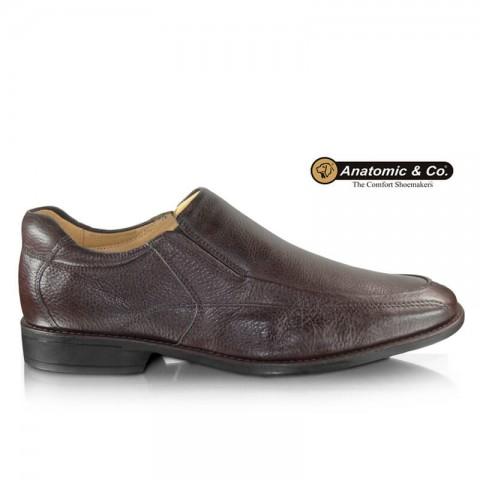 Sapato Anatomic Gel Veneza 9246 Floater Brown Tamanhos 42 a 48